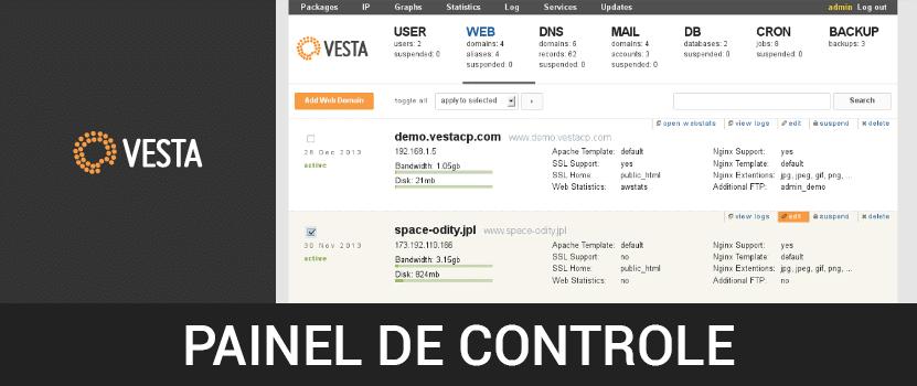 Painéis de controle GRÁTIS! Parte 2 de 6 – Como instalar o painel de controle Vesta no CentOS