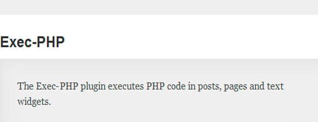 Exec-PHP